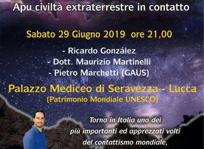 Conferenza sugli Ufo, extraterrestri e contattismo stasera a Seravezza