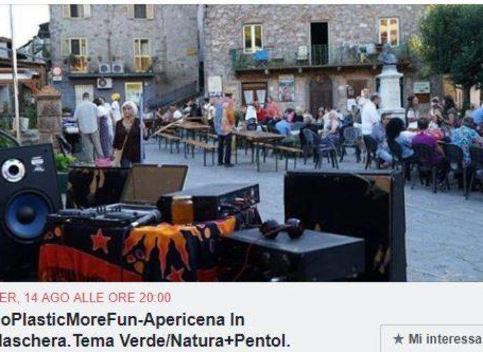 Festa in maschera NoPlastic a Montefegatesi; Bagni di Lucca