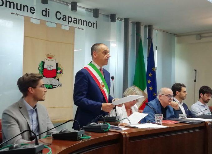 Primo Consiglio Comunale di Capannori: ho appena giurato sulla Costituzione Italiana.