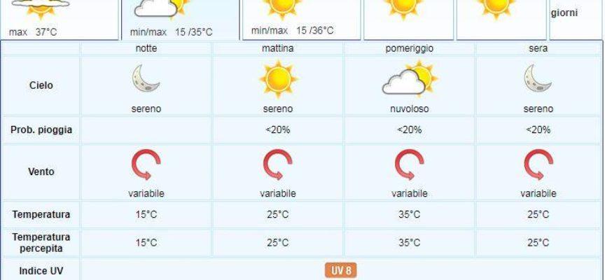 Meteo del LAMMA Toscana; aggiornamento del 28 giugno