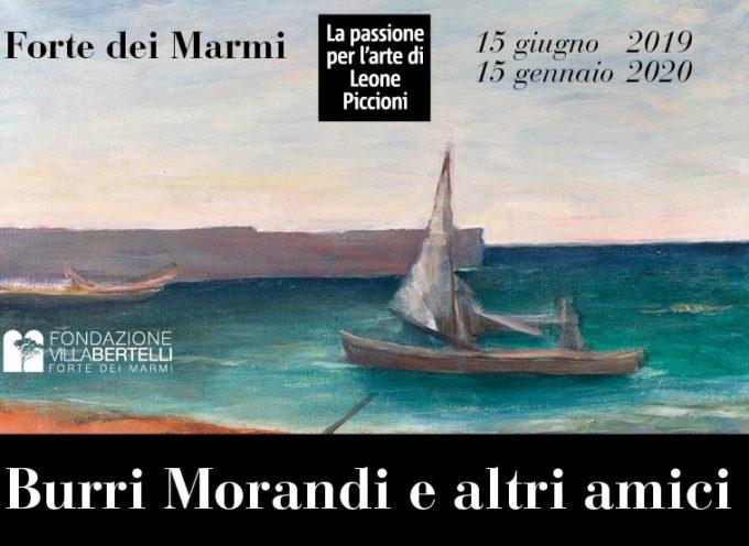 """VILLA BERTELLI – La mostra """"Burri Morandi e altri amici."""