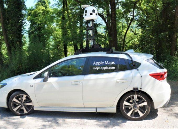 Arrivato in Garfagnana Apple Maps: le auto per 20 giorni nella Valle del Serchio