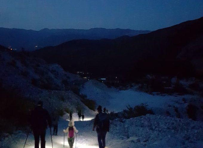 Escursione crepuscolare-notturna alle cave di Gorfigliano