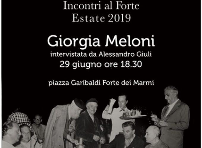 Forte dei Marmi: Il Quarto Platano, ospite Giorgia Meloni