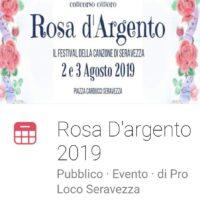 ROSA D'ARGENTO A SERAVEZZA: APERTE LE ISCRIZIONI