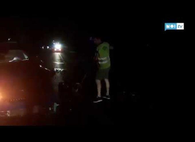 Pauroso schianto sulla Pesciatina, il motore rimane sulla strada l'auto finisce nel fosso (video)