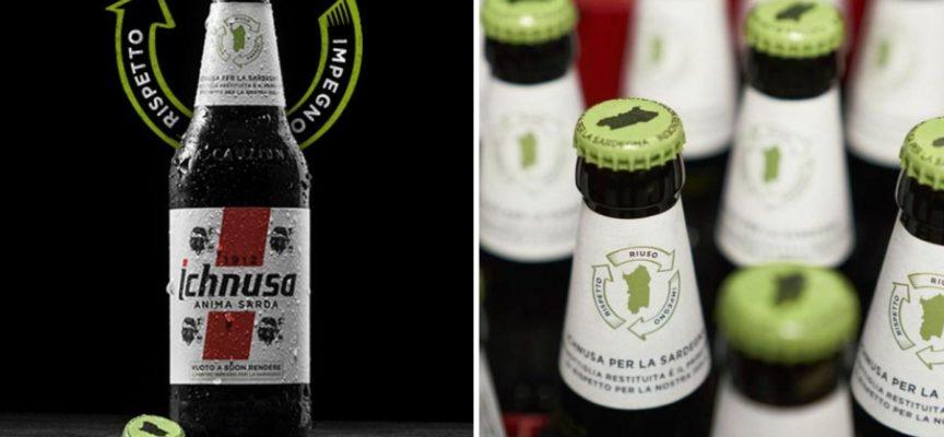 La birra Ichnusa rilancia il vuoto a rendere: ecco la nuova bottiglia col tappo verde