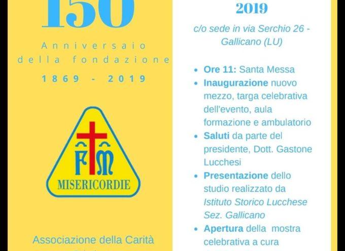 Misericordia di Gallicano, anniversario del 150esimo anno dalla fondazione