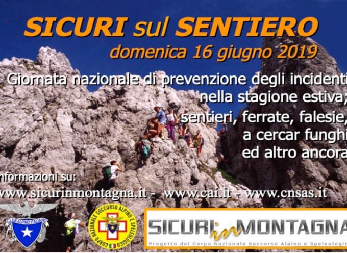 l'annuale appuntamento con il Soccorso Alpino Toscano e SICURI SUL SENTIERO 2019