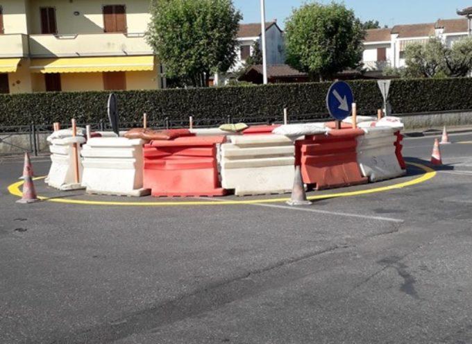 PORCARI – Lavori in corso alla nuova rotonda di Rughi,