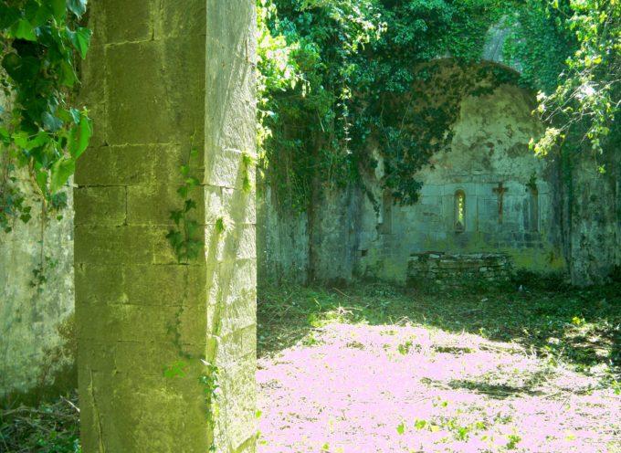"""la Protezione Civile della Misericordia di Borgo a Mozzano torna a Puticiano (Anchiano) per continuare l'opera di pulizia della chiesetta dei """"Santi Giusto e Clemente""""."""