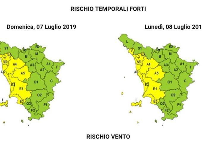 LUCCA – Allerta meteo gialla per temporali forti