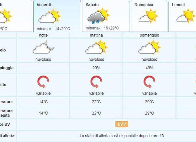 Meteo del LAMMA Toscana; aggiornamento 11 luglio