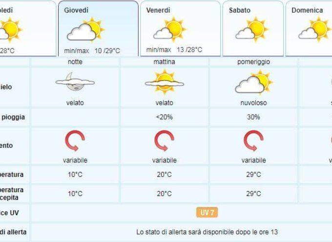 il Meteo del LAMMA Toscana; aggiornamento al 10 luglio