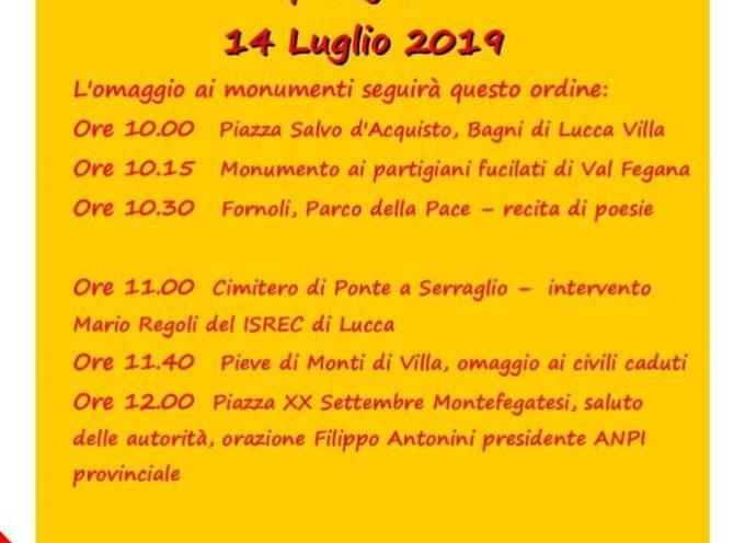75° Anniversario in ricordo dei caduti civili e partigiani; Bagni di Lucca
