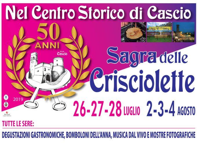 Cascio va in scena la 50a edizione della SAGRA DELLE CRISCIOLETTE!!!