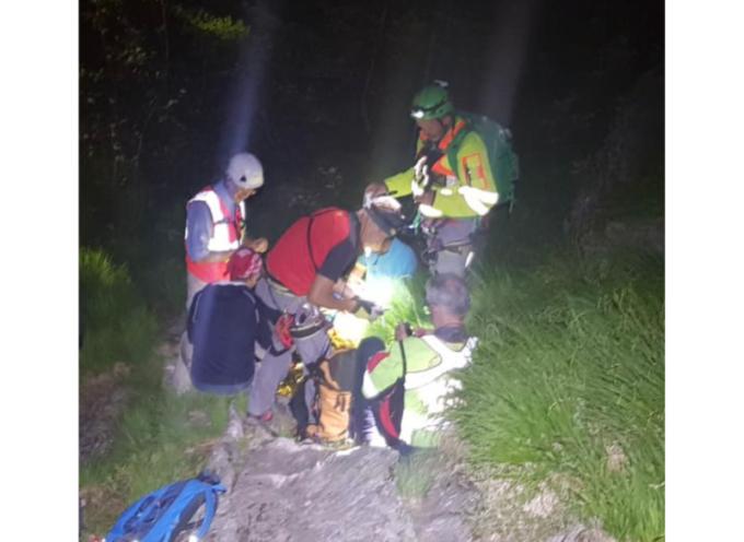 in nottata salvato un escursionista, sfinito e disidratato in val serenia
