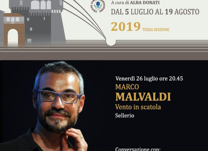 ALLA BELLA ESTATE VENERDI' 26 LUGLIO E' LA VOLTA DI MARCO MALVALDI VENTO IN SCATOLA