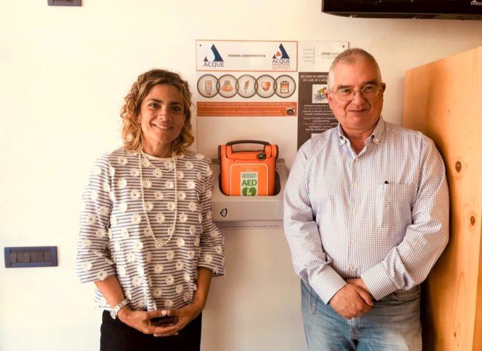 CAPANNORI – Acque Spa  – installati 24 defibrillatori, anche per cittadini e territorio
