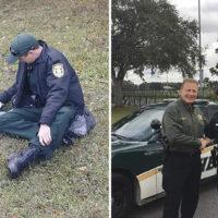 Vedono un poliziotto che copre con la giacca un cane, scoprono presto il suo grande cuore