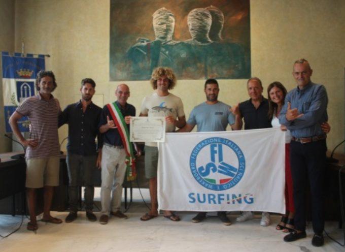 PIETRASANTA – campione europeo Federico Nesti ricevuto in Municipio,