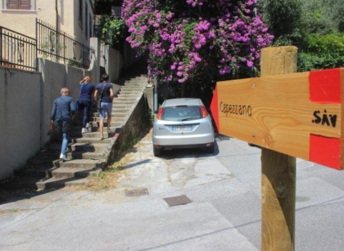 trekking, recuperato antico sentiero panoramico da centro storico a Capezzano Monte