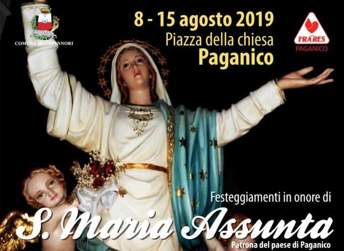 A PAGANICO I FESTEGGIAMENTI IN ONORE DI S.MARIA ASSUNTA PATRONA DEL PAESE