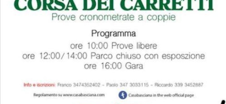 La corsa dei carretti a Casabasciana; Bagni di Lucca