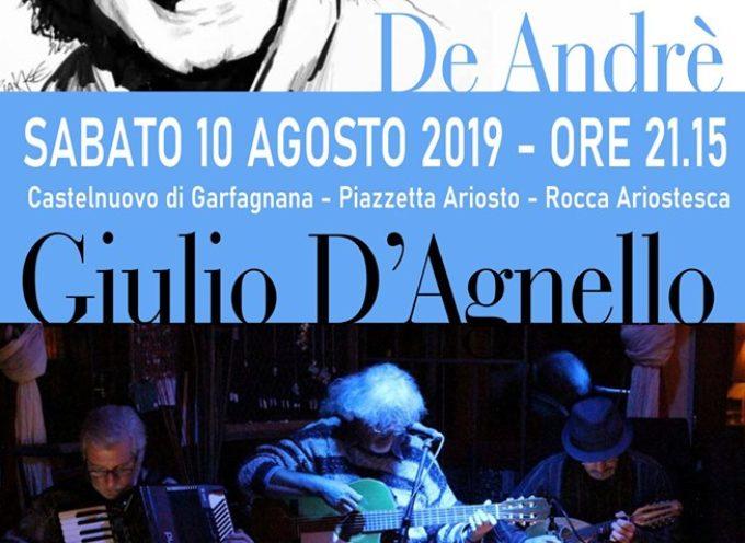 Castelnuovo di Garfagnana tributo a De Andrè presso la Piazzetta Ariosto con Giulio D'Agnello