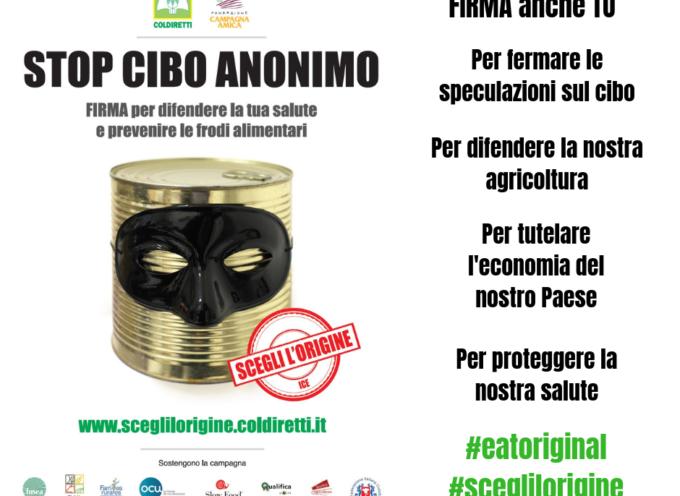 STOP AL CIBO ANONIMO