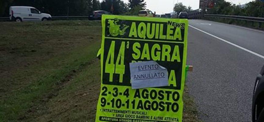 Il comitato paesano di Aquilea sta subendo da alcuni giorni un disdicevole boicottaggio.
