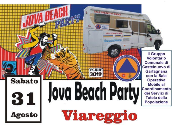 La Protezione Civile Civile del Comune del Castelnuovo di Garfagnana – sara' presente per la seconda tappa del Jova Beach Party di Viareggio