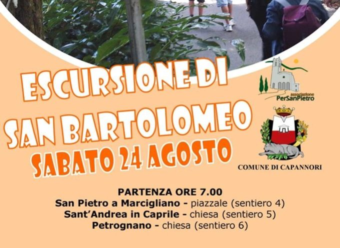 'ESCURSIONE DI SAN BARTOLOMEO' SULLE PIZZORNE