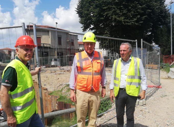 Sottopasso di piazzale Boccherini: dopo lo scavo si lavora a pieno ritmo alle fondamenta.