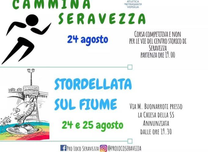 """Pro Loco, torna la """"Cammina Seravezza"""", con partenza da Piazza Carducci, poi la """"Stordellata sul Fiume""""."""