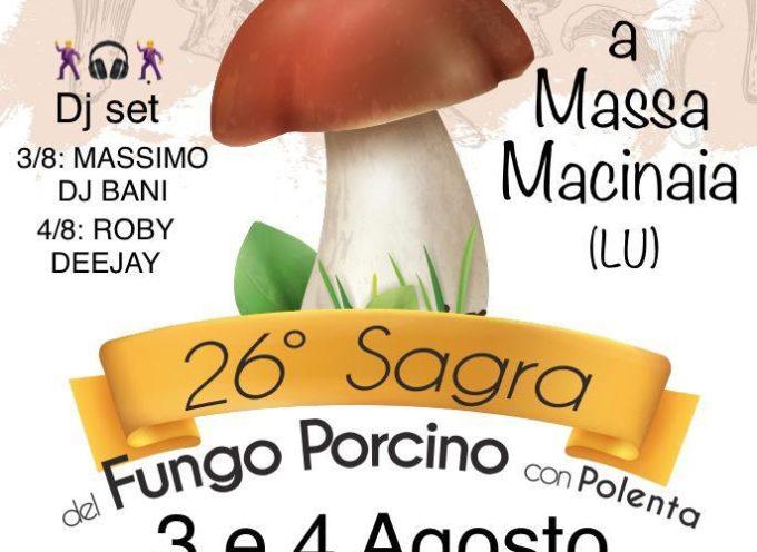 LA '26a SAGRA DEL FUNGO PORCINO CON POLENTA' A MASSA MACINAIA