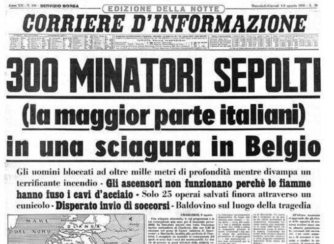 GIORNATA DEL SACRIFICIO DEL LAVORO ITALIANO NEL MONDO, AMMINISTRAZIONE GIOVANNETTI RICORDA VITTIME DISASTRO MARCINELLE