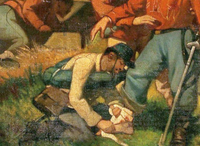 """""""Garibaldi fu ferito/fu ferito a una gamba…"""""""