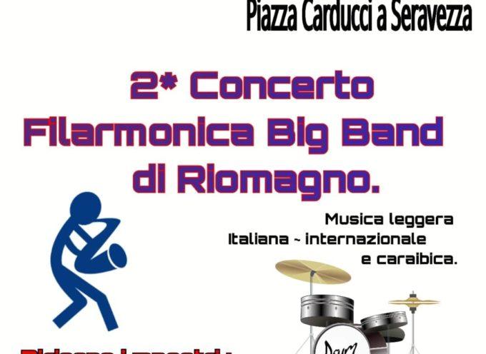 Domenica 4 agosto, a Seravezza – Concerto della Filarmonica Big Band di Riomagno