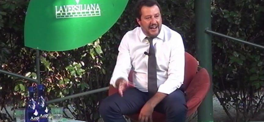 Matteo Salvini oggi al Caffè della Versiliana