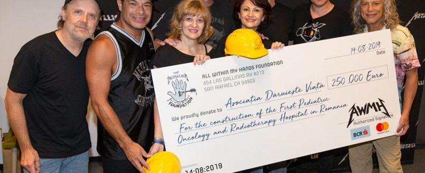 METALLICA: donati 250 mila euro per il primo ospedale pediatrico di oncologia e radioterapia della Romania