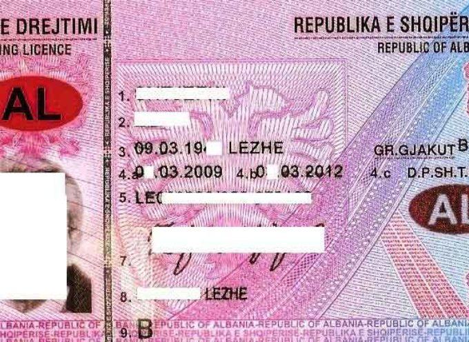 L'Italia riconosce la patente di guida albanese