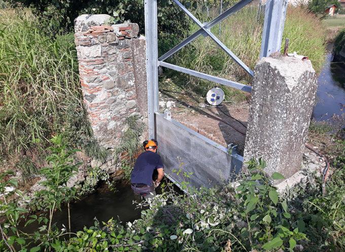 Costruita e montata la nuova cateratta sul Rio Viaccia a Lammari, nel Capannorese
