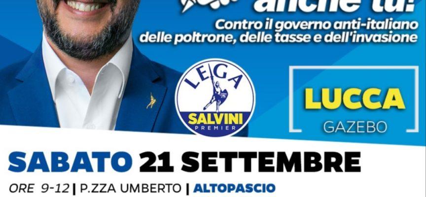 Continua il gazebo Lega sul territorio Media Valle Garfagnana.