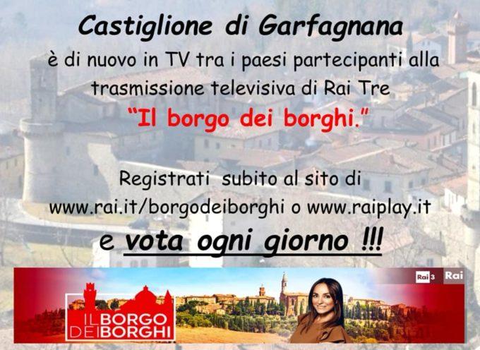 """castiglione parteciperà alla trasmissione televisiva di Rai Tre """"il borgo dei borghi"""""""