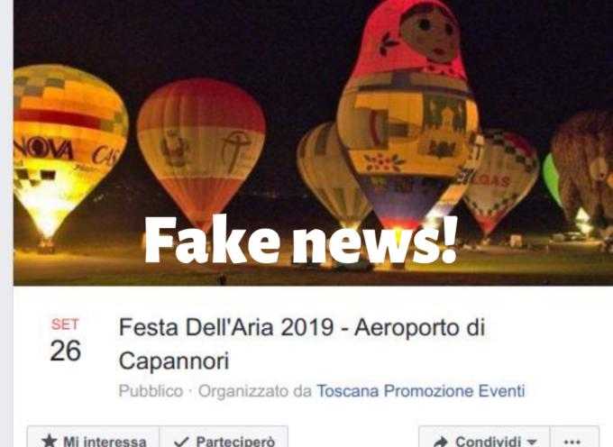 Occhio alle fake news sulla Festa dell'Aria Capannori.