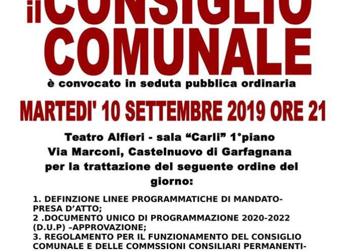 A CASTELNUOVO DI GARFAGNANA – DOMANI SERA SEDUTA DEL CONSIGLIO COMUNALE