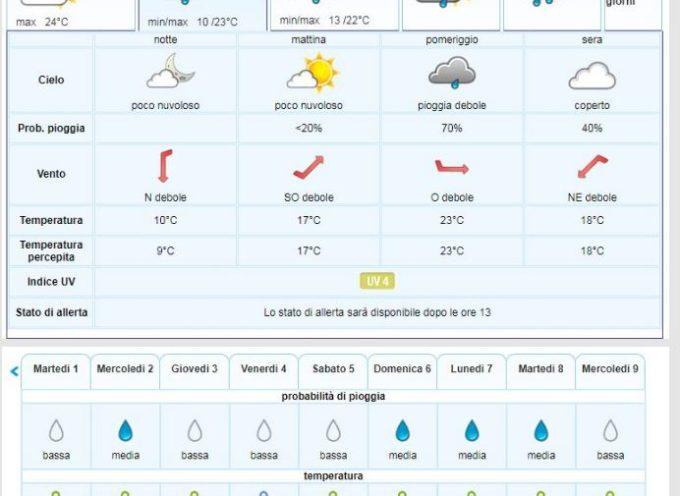 Previsioni Meteo del LAMMA Toscana per la Valle del Serchio per giovedì 26 settembre