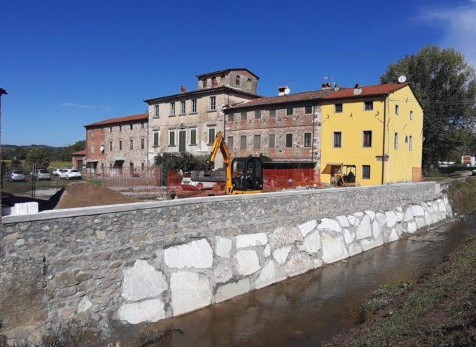 Si è conclusa nei tempi previsti la realizzazione del muro di Corte Andreotti sulla Fossanuova.