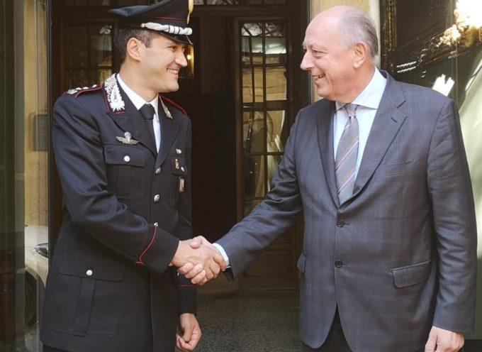 Il sindaco Tambellini riceve il Comandante provinciale dei Carabinieri colonnello Ugo Blasi